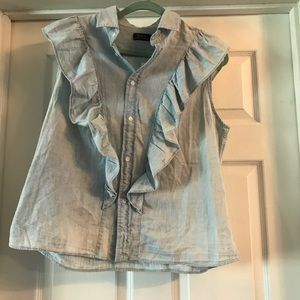 RL Short sleeve top with ruffles